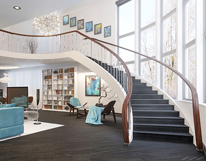 Bookstore with a living area