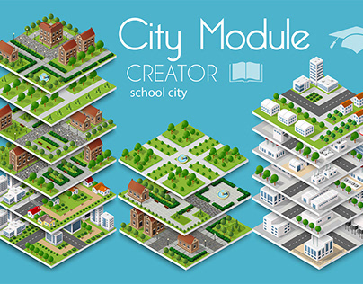 City module creator school town