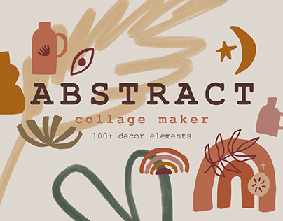 Modern Abstract Shapes Collage Maker