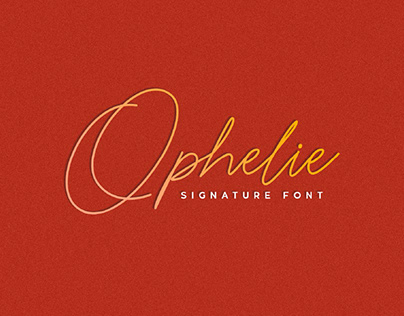 FREE | Ophelie Signature Font
