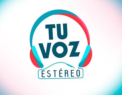 Rediseño logo producción televisiva Tu voz estéreo
