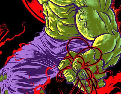 Officially Licensed MARVEL Hulk ART Print