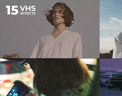 15 VHS Looks effects for Premiere Pro