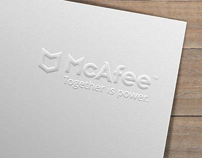Diseño de logo evento especial e imagen McAfee