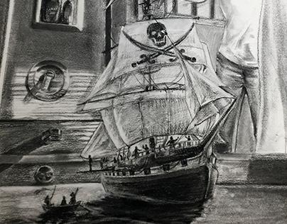 Chris Van Allsburg inspired Illustration