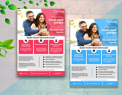 Real estate broker flyer design