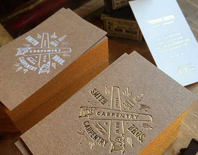 Brown kraft foiled business cards on behance colourmoves
