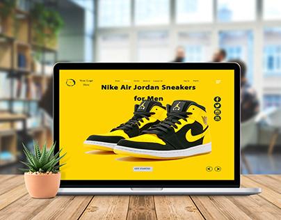 Landing Page Nike Sneakers