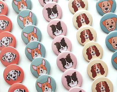 Badges and stickers for animal charity fund