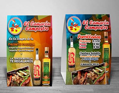 Tent Card Para Restaurante Mexicano en Guadalajara