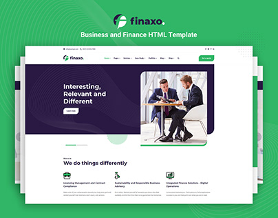 Finaxo - Business and Finance HTML5 Template