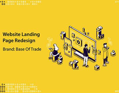Redesigned Base of trade web landing page