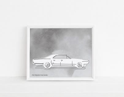 Custom Classic Car Art Prints