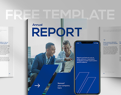 Free InDesign Template - Financial Report