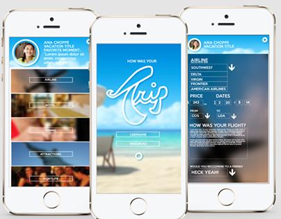 UI/UX Concept Design - Trip