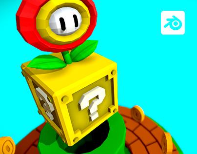 Mario Bros Lowpoly - Games Diorama