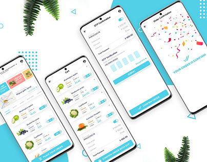 Free Online Grocery Shopping App UI Kit