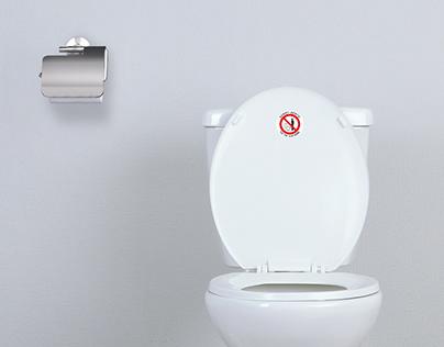 Toilet Manner Sticker