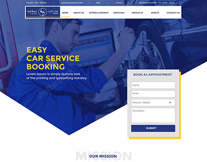 Car Service Booking Website