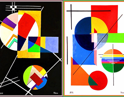 Geometrycal Abstraction-Triptix