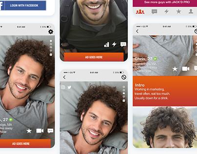 Jack'd UI/UX Profile Redesign