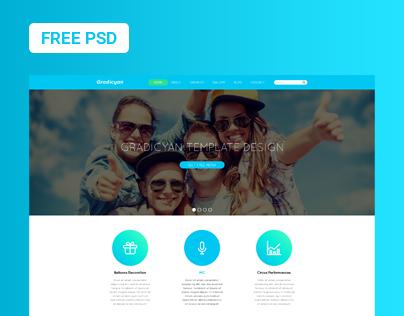 Gradicyan - Landing Page - FREE PSD