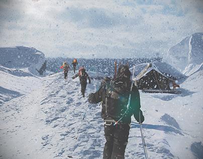 Восхождение алпинистов