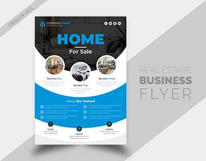 Real Estate Business Round Shape Flyer Design Template