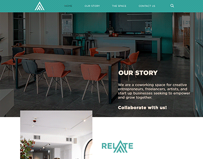 After Freedom Co-working space website design
