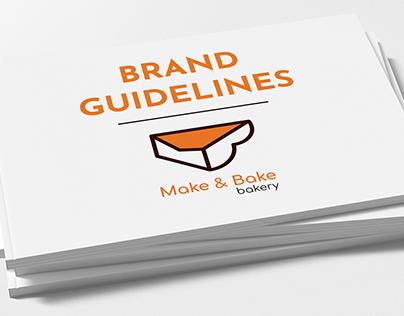 MAKE & BAKE bakery | Brand Guideline