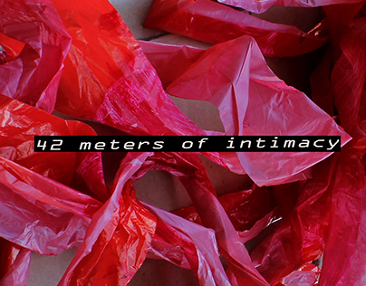 42m of intimacy, intervention in public space, 2020