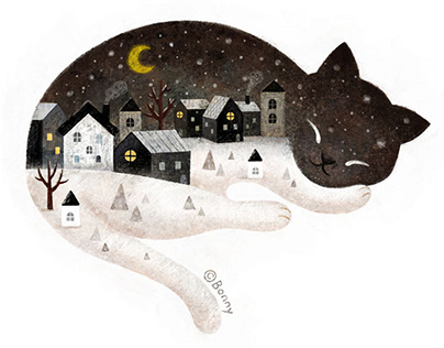 A night cat