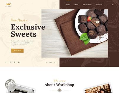 Artisan Chocolate Landing WordPress