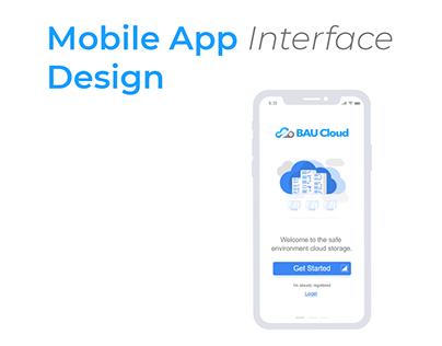 BAU Coud   App Interface Design