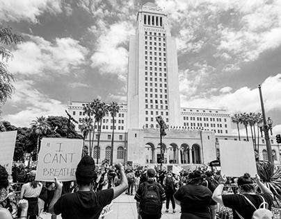downtown LA BLM protests