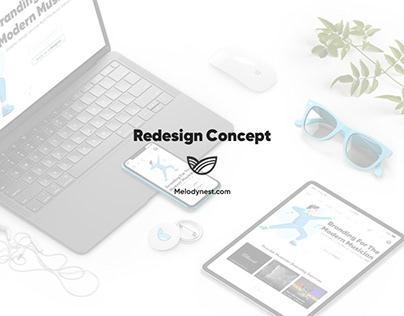 Melodynest — Redesign
