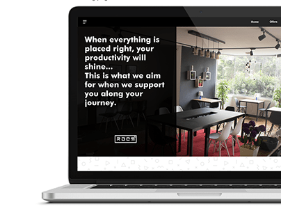 Room Squared Co-working space website UI-UX