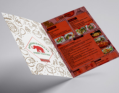 MENU CARD FOR THAI RESTAURANT