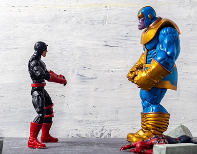 Devil vs Thanos - Stop Motion