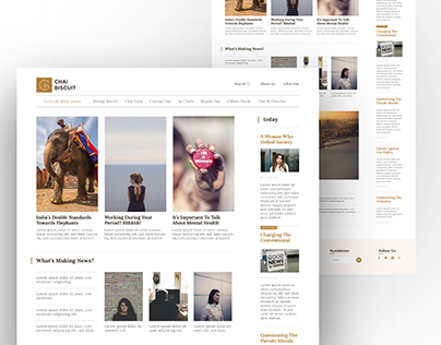Refreshed home page UI for publisher | Chai Biscuit