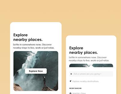 Travel app - UI/UX concept