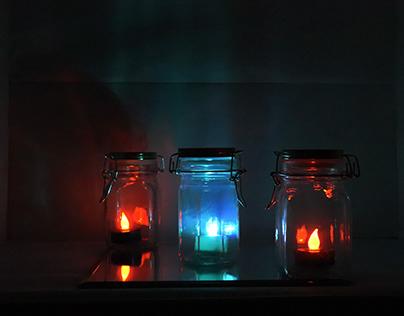Three glass jar 3-4