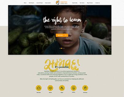 Sambhav Nepal - non profit organization website design