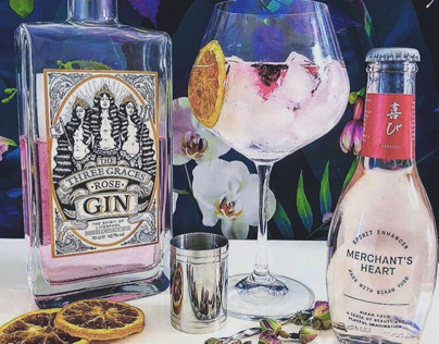 The Three Graces Pink Gin