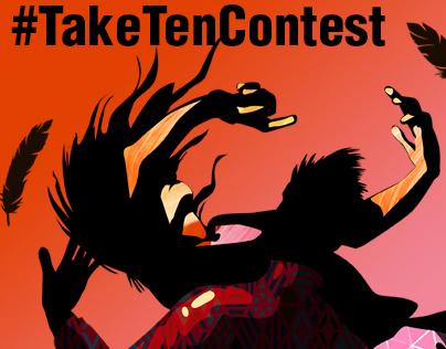 love is a weightless feeling #TakeTenContest