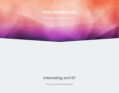 Row Separator - Edge WordPress Theme