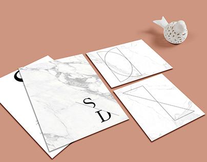 Modern wedding invitation suite - Como