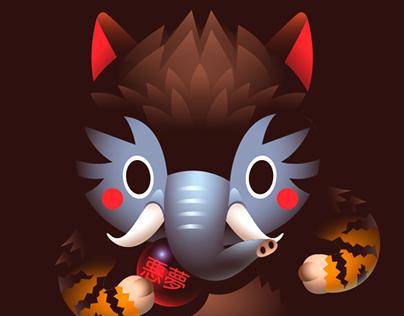 Personal Character Design Project : Baku #01