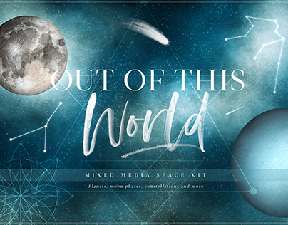 Out of This World Mixed Media Space Kit