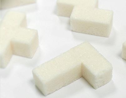 Tetris Sugar. Concept